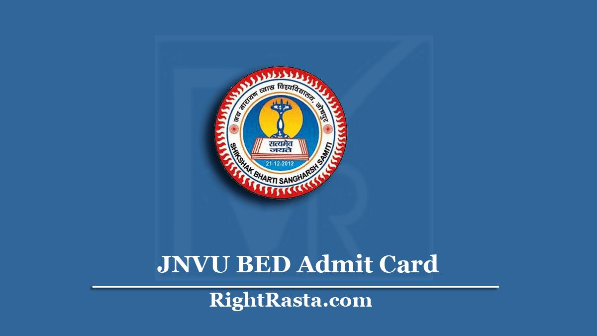 JNVU BED Admit Card