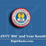 JNVU BSC 2nd Year Result 2020 | Jai Narain Vyas University B.COM Results