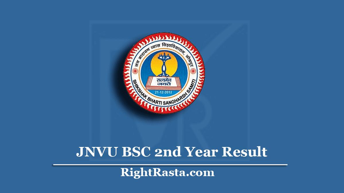 JNVU BSC 2nd Year Result