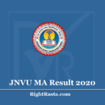 JNVU MA Result 2020 (Out) - Jai Narain Vyas University M.A. Previous and Final Results