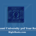 Kalyani University 3rd Year Result 2020 (Out) | Download KU UG Part 3 Results