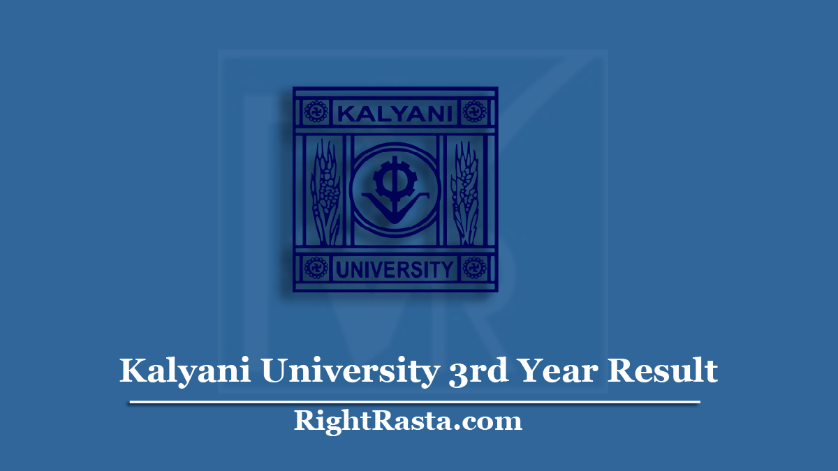 Kalyani University 3rd Year Result
