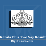Kerala Plus Two Say Result 2020 (Out) | Download DHSE +2 Say Exam Marks