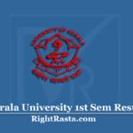 Kerala University 1st Sem Result 2019 (Out) | KU BA BSC BCOM Semester 1 Results