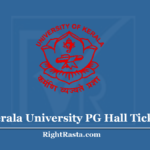 Kerala University PG Hall Ticket 2020 (Out) - CSS Entrance Exam Admit Card