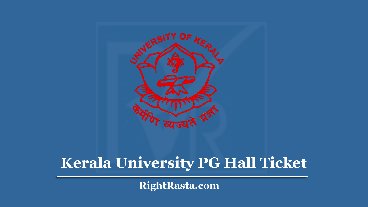 Kerala University PG Hall Ticket
