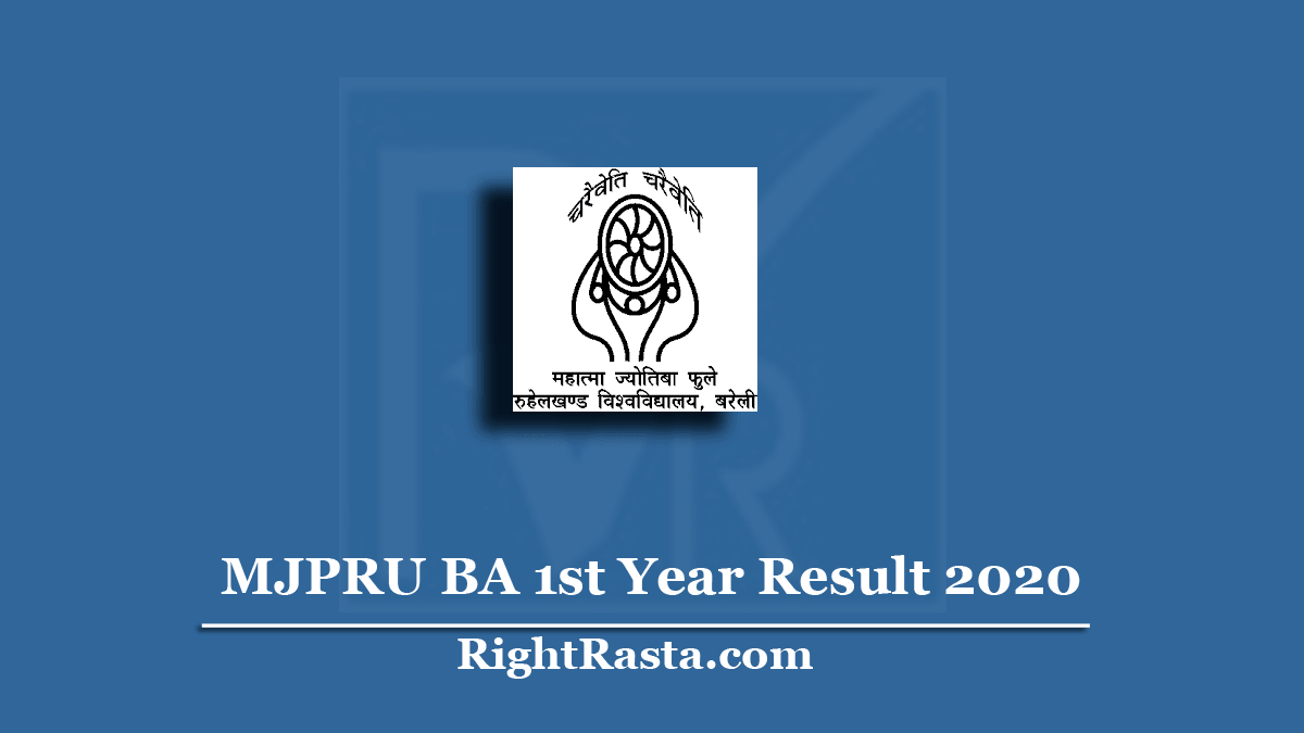 MJPRU BA 1st Year Result