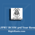 MJPRU BCOM 3rd Year Result 2020 (Out) | Download B.Com Part 3 Results