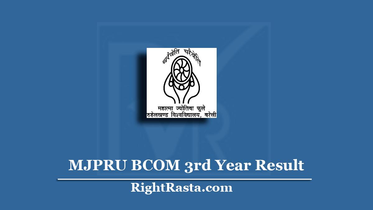 MJPRU BCOM 3rd Year Result