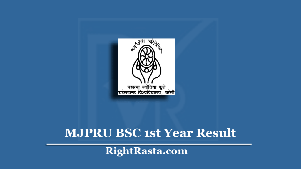mjpru bsc 1st year result 2020 out  download bsc part