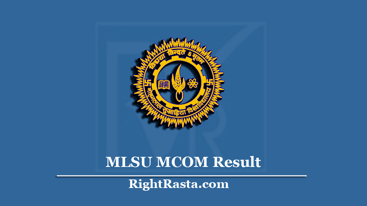 MLSU MCOM Result