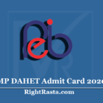 MP DAHET Admit Card 2020 (Out) | Download MPPEB Animal Husbandry Hall Ticket