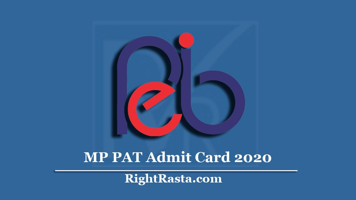 MP PAT Admit Card 2020