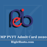 MP PVFT Admit Card 2020 (Out) | Download Pre Veterinary and Fisheries Test Hall Ticket