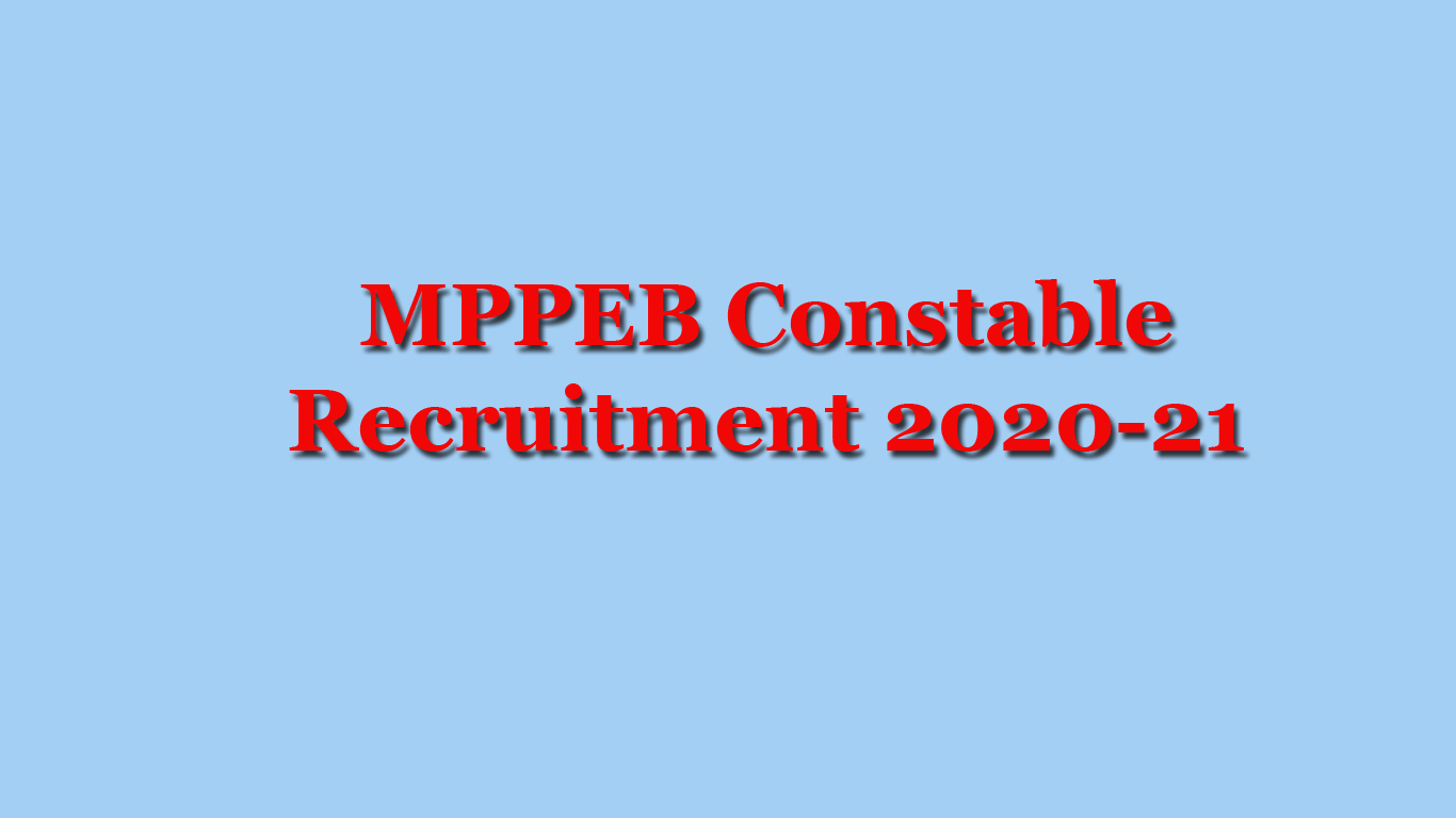MPPEB Constable Recruitment 2020