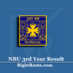 NBU 3rd Year Result 2020 (Out) | Download BA BSC BCOM Part 3 Results