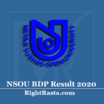 NSOU BDP Result 2020 (Out) | Download WBNSOU BA, BSC, BCOM TEE Results