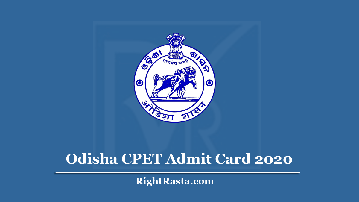 Odisha CPET Admit Card