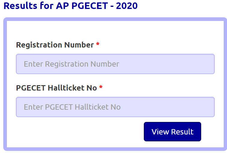 PGCET Result 2020