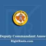 RPSC Deputy Commandant Answer Key 2020 (Out) | Download DC Exam Key