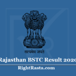 Rajasthan BSTC Result 2020 (Out) Download Pre DELED Exam Marks Score Card