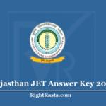 Rajasthan JET Answer Key 2020 (Out) - Download AU Kota Exam Key PDF