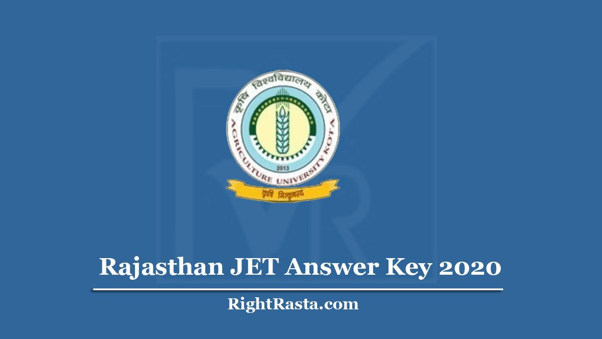 Rajasthan JET Answer Key