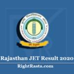 Rajasthan JET Result 2020 (Out) | Download AU Kota Agriculture Results