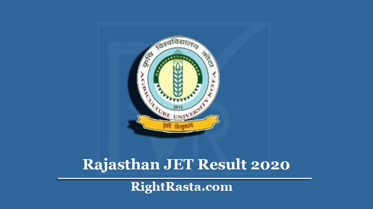 Rajasthan JET Result