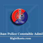 Rajasthan Police Constable Admit Card 2020 (Soon) | Check Exam District