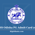 SAMS Odisha PG Admit Card 2020 (Out) Download CPET Entrance Exam