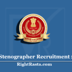 SSC Stenographer Recruitment 2020 | Apply for Steno Grade C & D Vacancy
