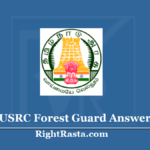 TNFUSRC Forest Guard Answer Key 2020 (Out) Download TN Forest Exam Key PDF