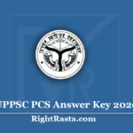 UPPSC PCS Answer Key 2020 (Out) | Download ACF / RFO Prelims Exam Key
