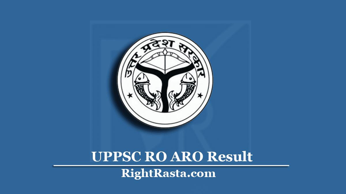 UPPSC RO ARO Result