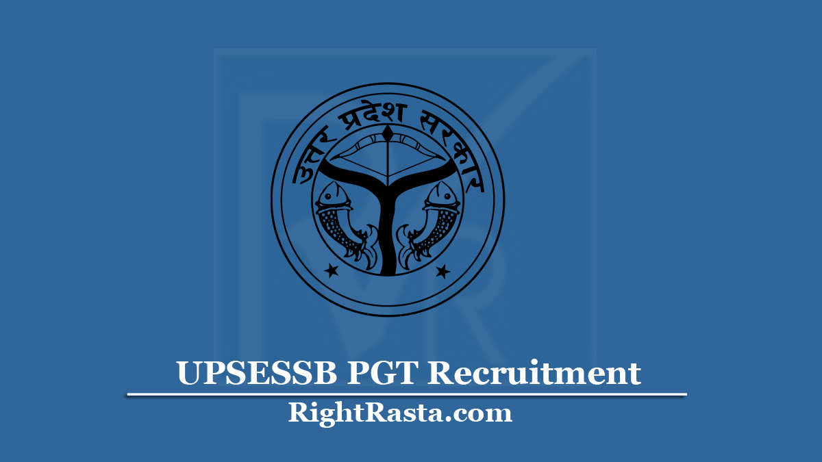 UPSESSB PGT Recruitment