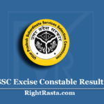 UPSSSC Excise Constable Result 2016 (Out) | Download UP Abkari Merit List