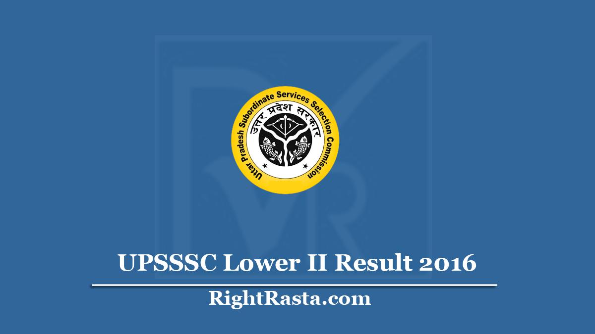 UPSSSC Lower II Result