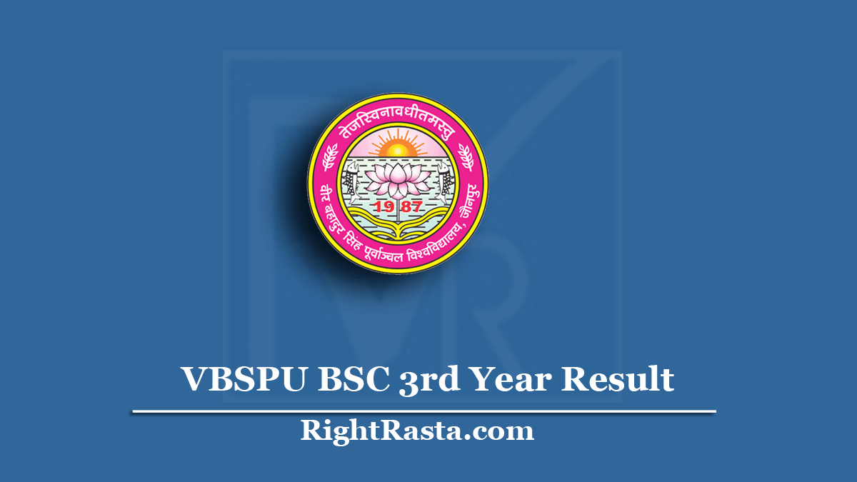 VBSPU BSC 3rd Year Result