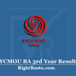 YCMOU BA 3rd Year Result 2020 | Download B.A. Part 3 Result Using PRN No