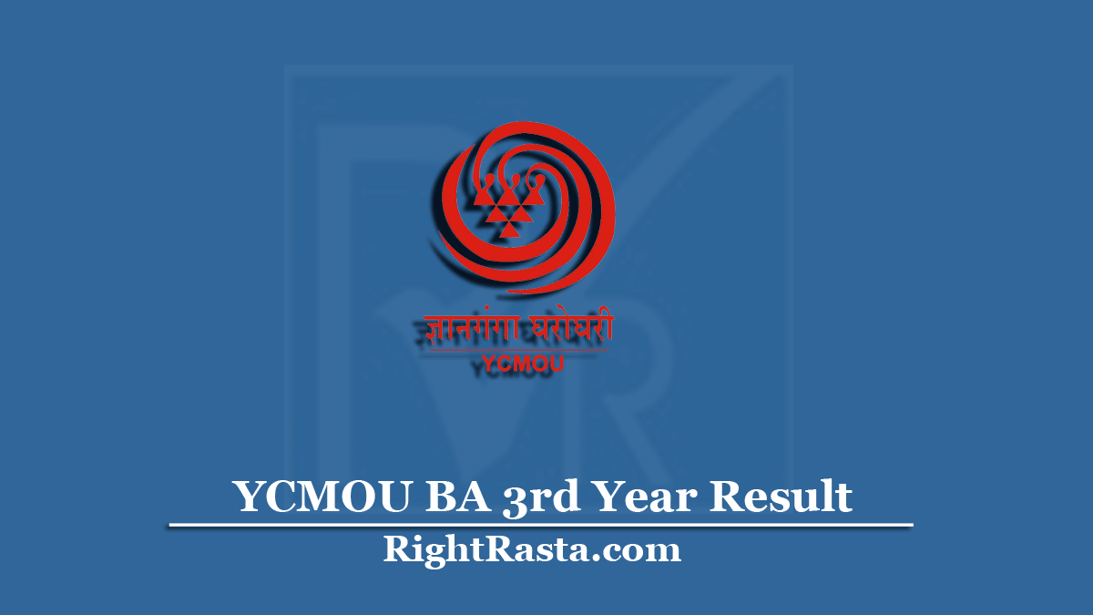 YCMOU BA 3rd Year Result