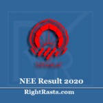 www.nerist.ac.in Result 2020 (Out) | Download NEE Entrance Exam Results