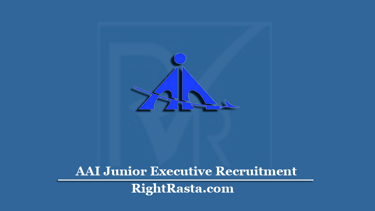 AAI Junior Executive Recruitment