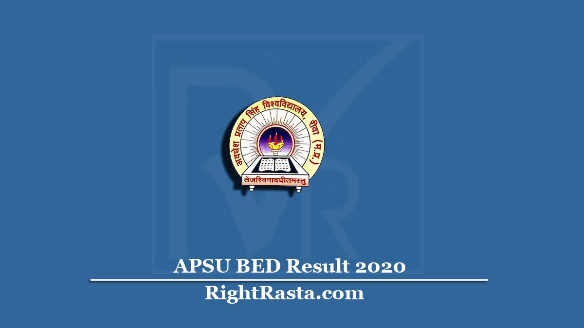 APSU BED Result 2020