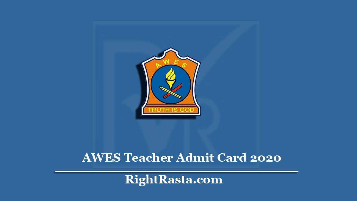AWES Teacher Admit Card