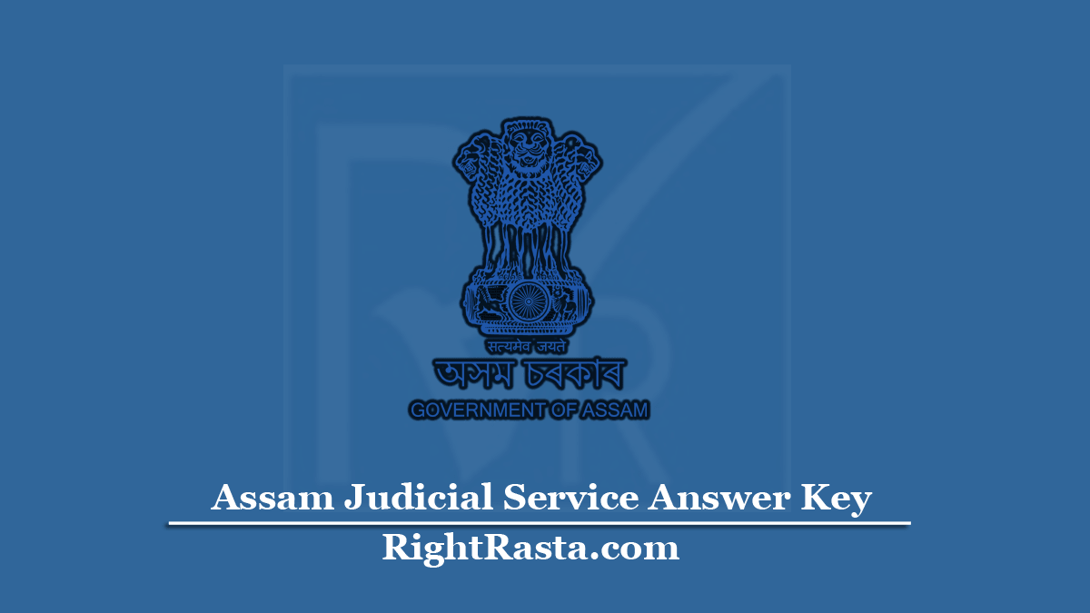 Assam Judicial Service Answer Key