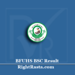 BFUHS BSC Result 2020 (Out) | B.Sc Nursing MRIT 3rd 4th Year Results