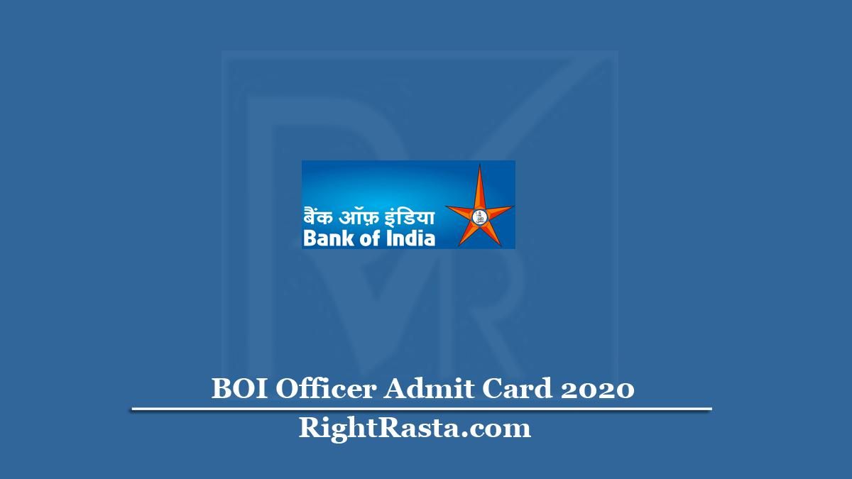 BOI Officer Admit Card