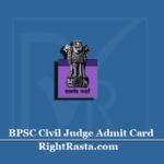 BPSC Civil Judge Admit Card 2020 (Out) | Download Bihar 31st Judicial Service Hall Ticket