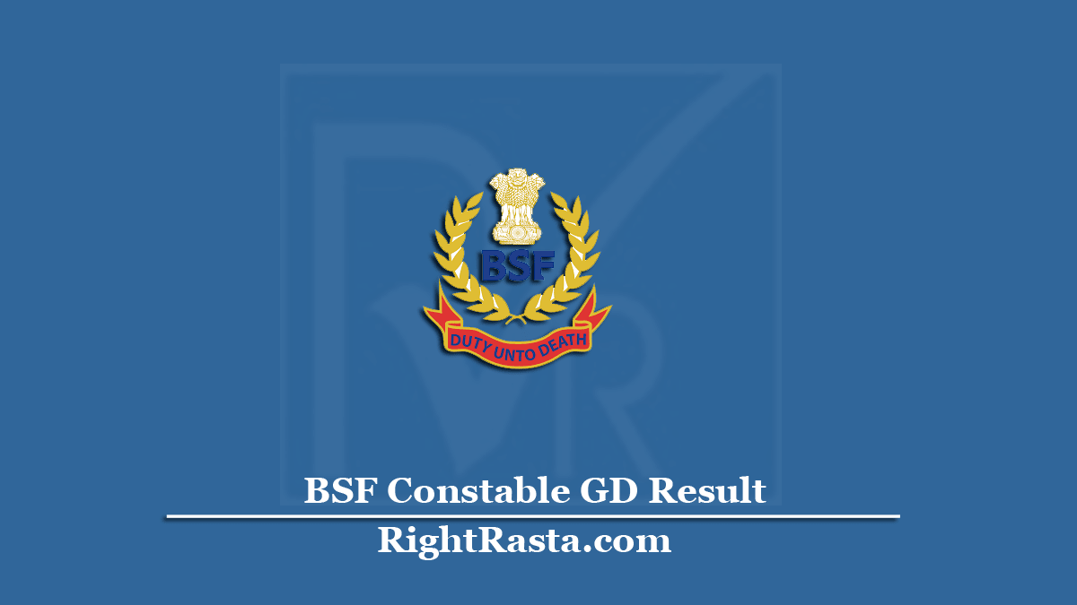 BSF Constable GD Result